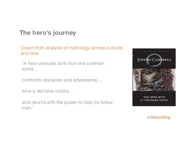 """The hero's journeyDrawn from analysis of mythology across culturesand time:""""A hero ventures forth from the commonworld…con..."""