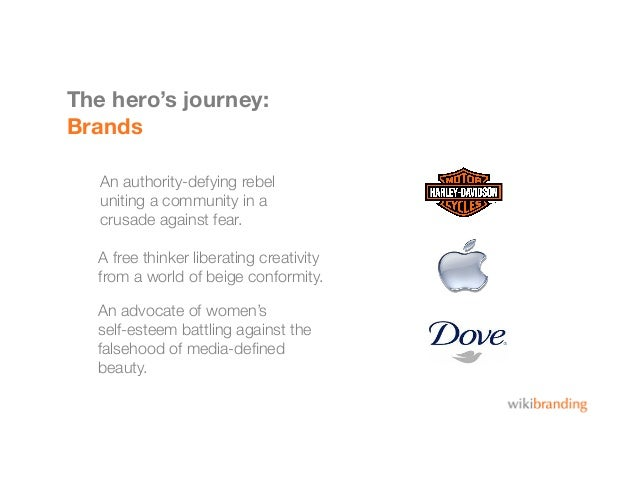 The hero's journey:BrandsAn authority-defying rebel uniting a community in acrusade against fear.An advocate of women's se...