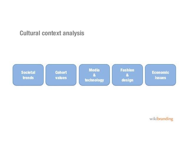 Cultural context analysisSocietal trendsCohortvaluesMedia&technologyFashion&designEconomicissues