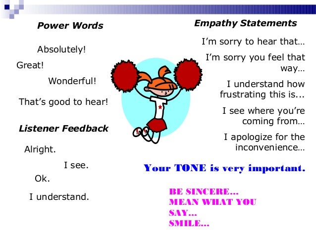 Empathy Statements Call Center