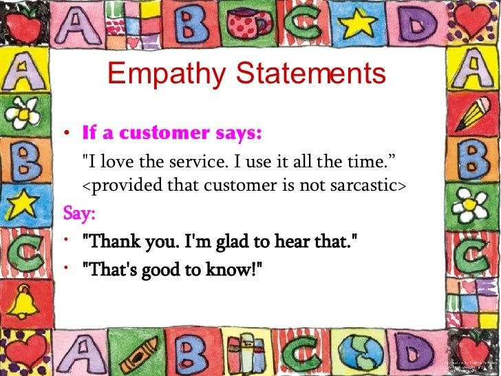 empathy in cust svc