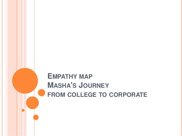 EMPATHY MAP MASHA'S JOURNEY FROM COLLEGE TO CORPORATE