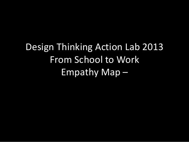 Design Thinking Action Lab 2013 From School to Work Empathy Map –