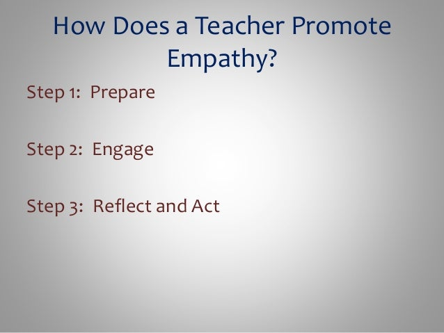 Empathy In Action How Teachers Prepare >> Empathy Powerpoint Week 5