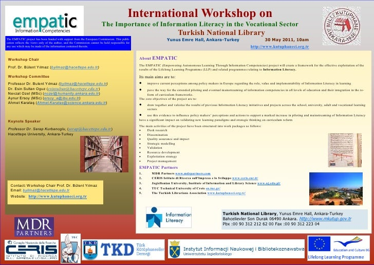 International Workshop on                                                                         The Importance of Inform...