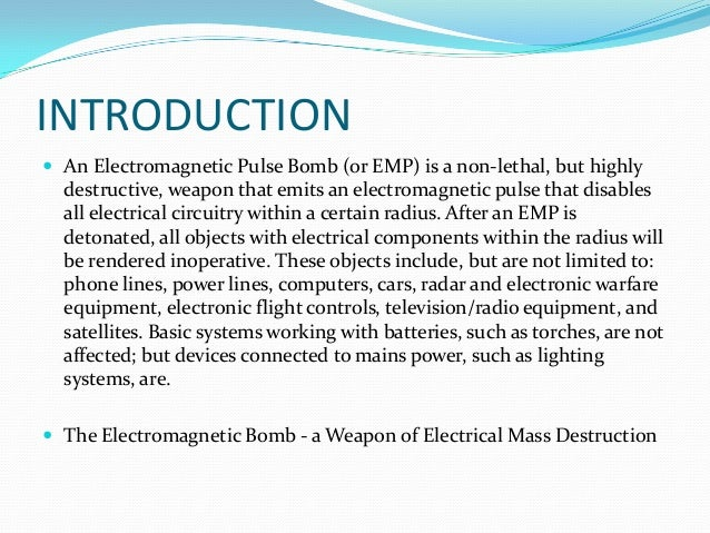 how to make an emp bomb