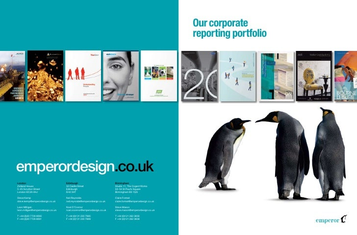 Our corporate reporting portfolio