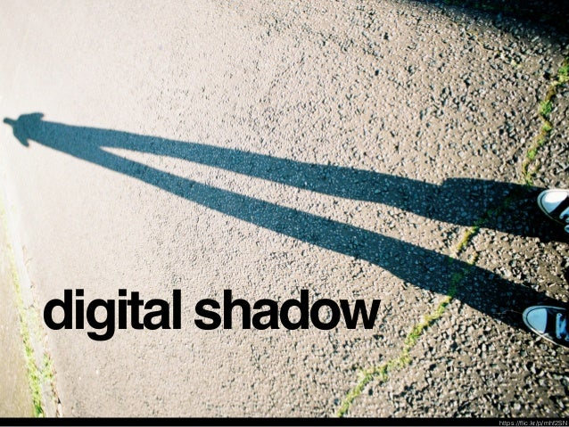 digital footprints + digital shadow + digital trail digital stamp