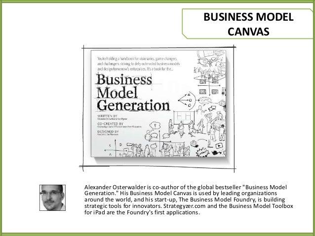 "BUSINESS MODEL CANVAS  Alexander Osterwalder is co-author of the global bestseller ""Business Model Generation."" His Busine..."