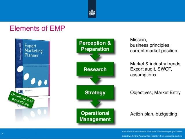 export market plan