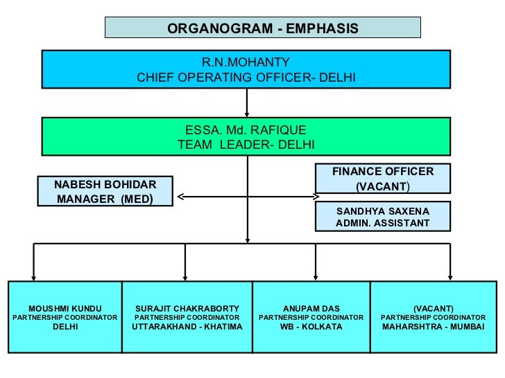 ORGANOGRAM - EMPHASIS                                   R.N.MOHANTY                          CHIEF OPERATING OFFICER- DELH...