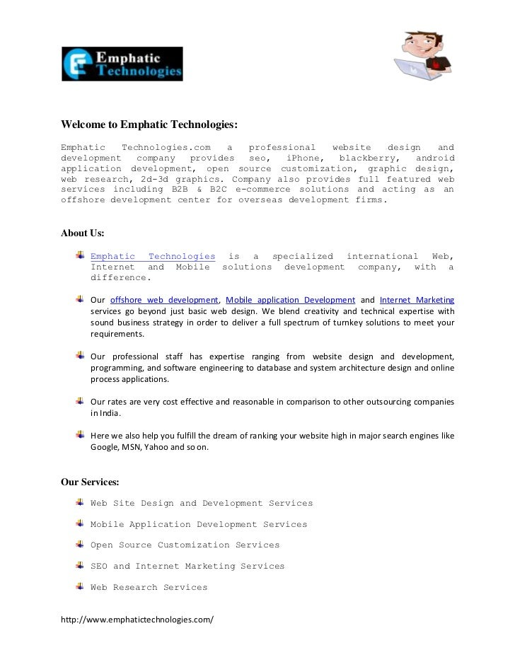 Welcome to Emphatic Technologies:Emphatic   Technologies.com   a   professional   website   design   anddevelopment   comp...