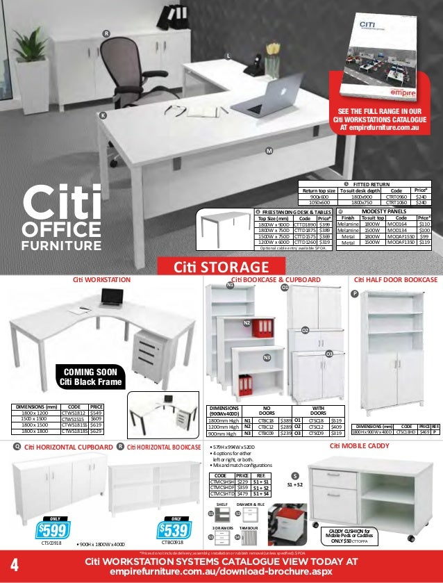 ... 4. Citi WORKSTATION SYSTEMS CATALOGUE ...
