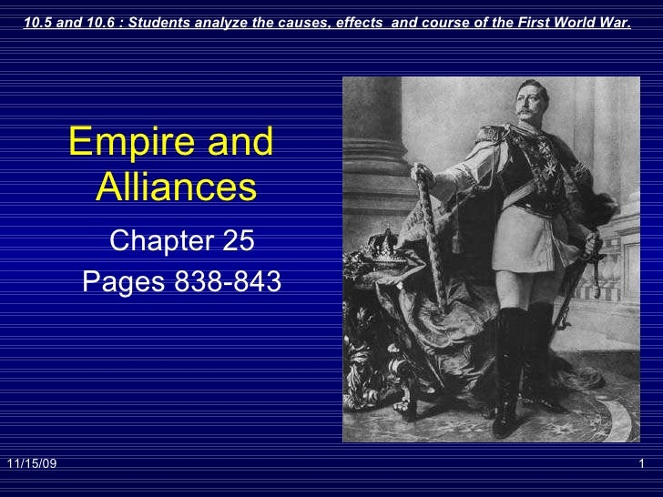 Empire and  Alliances Chapter 25 Pages 838-843