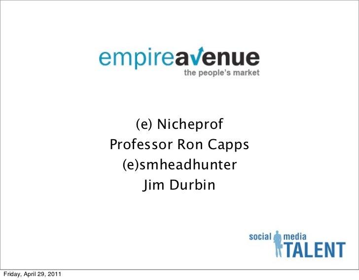 (e) Nicheprof                         Professor Ron Capps                           (e)smheadhunter                       ...