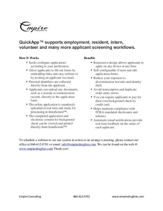 Empire Consulting Background Check