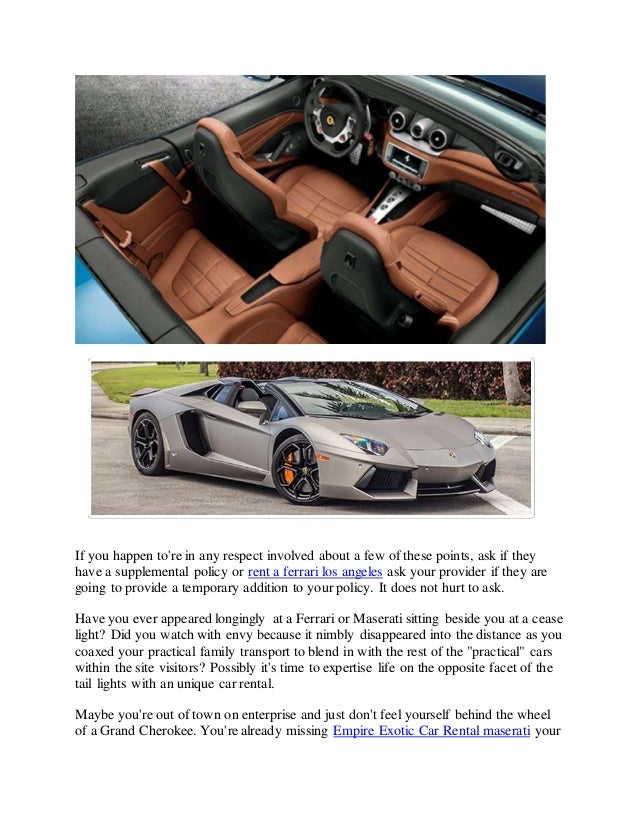 Empire Exotic Car Rental