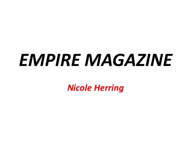 EMPIRE MAGAZINE Nicole Herring