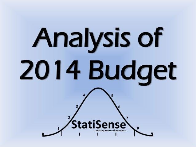 Analysis of 2014 Budget