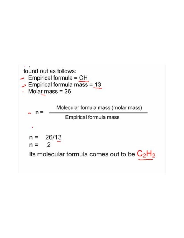 how to write molecular formula from empirical