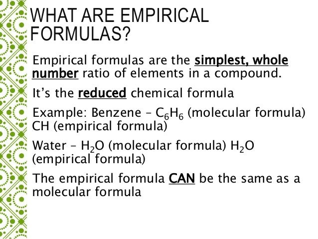 Water And Empirical Formula Custom Paper Service