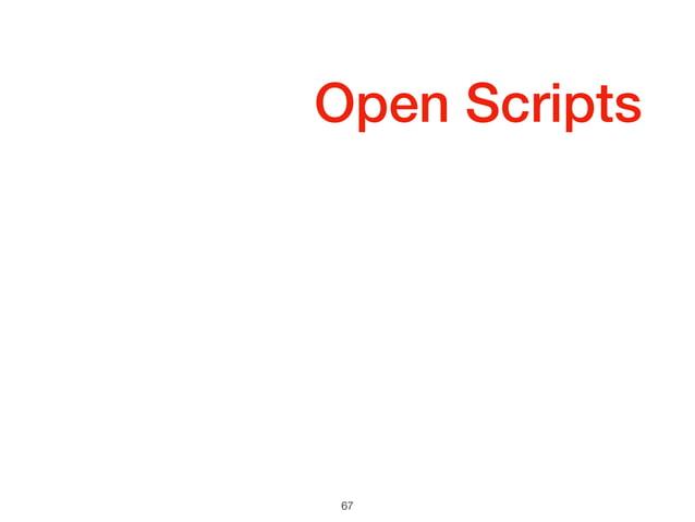 Open Scripts 67