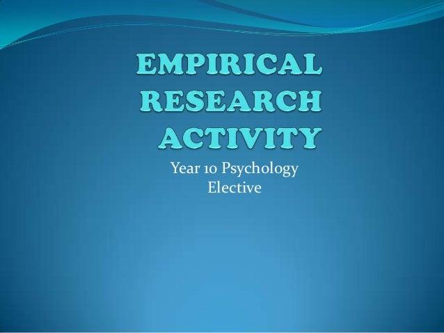 Year 10 Psychology      Elective