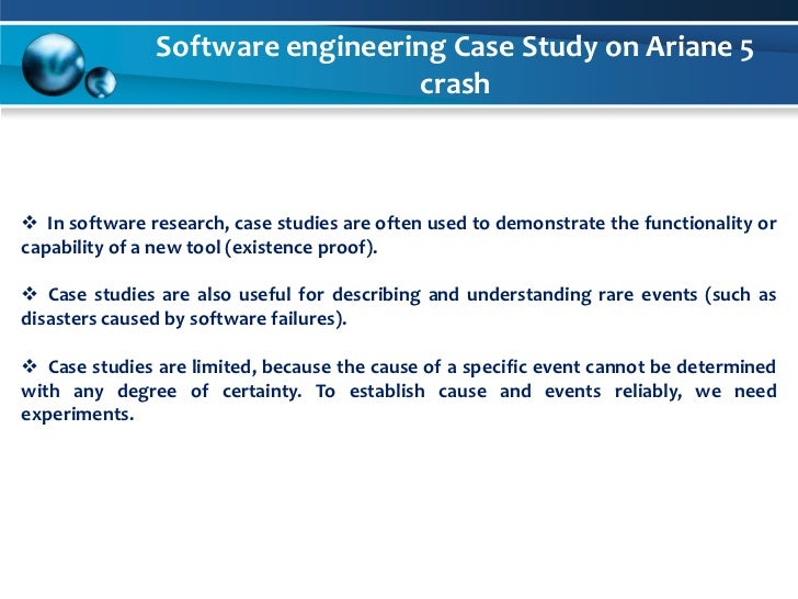 case study software engineering Preface this report is an output of a joint software engineering institute (sei)/siemens project in which siemens software development organizations are being used as case study.
