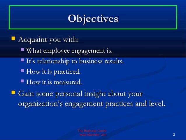 employee objective
