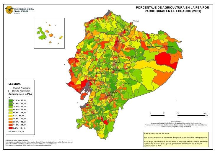 PORCENTAJE DE AGRICULTURA EN LA PEA POR                                                                                   ...