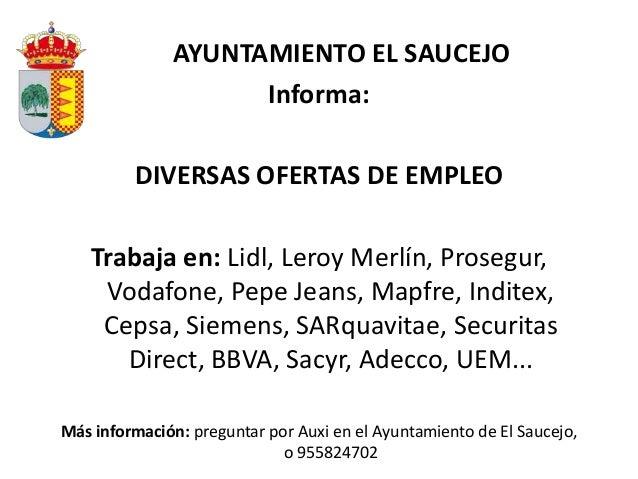 Ofertas de empleo en espa a y en el extranjero y algunas becas - Ofertas de empleo madrid ...