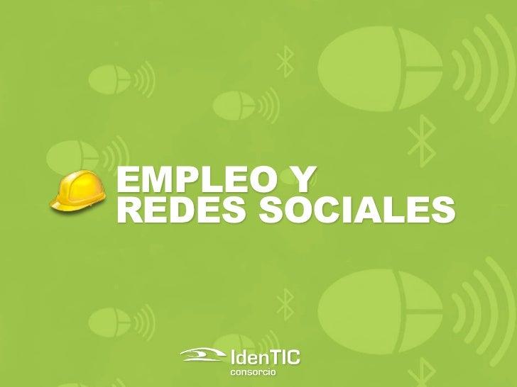 EMPLEO YREDES SOCIALES