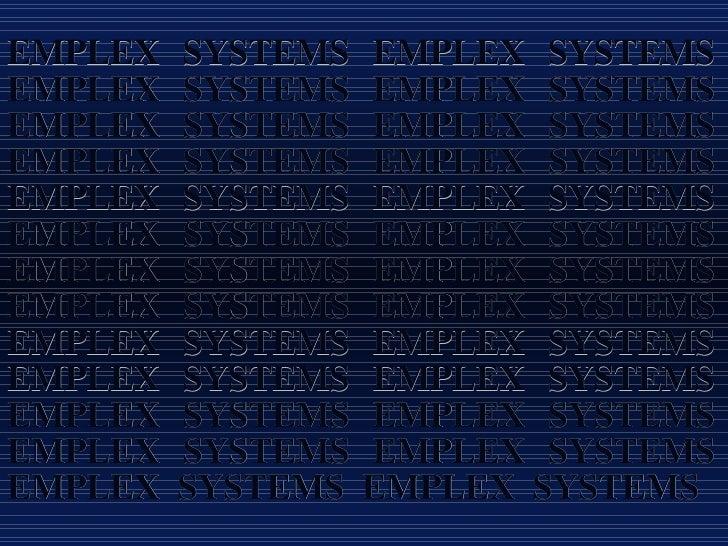 EMPLEX SYSTEMS EMPLEX SYSTEMS EMPLEX SYSTEMS EMPLEX SYSTEMS EMPLEX SYSTEMS EMPLEX SYSTEMS EMPLEX SYSTEMS EMPLEX SYSTEMS EM...