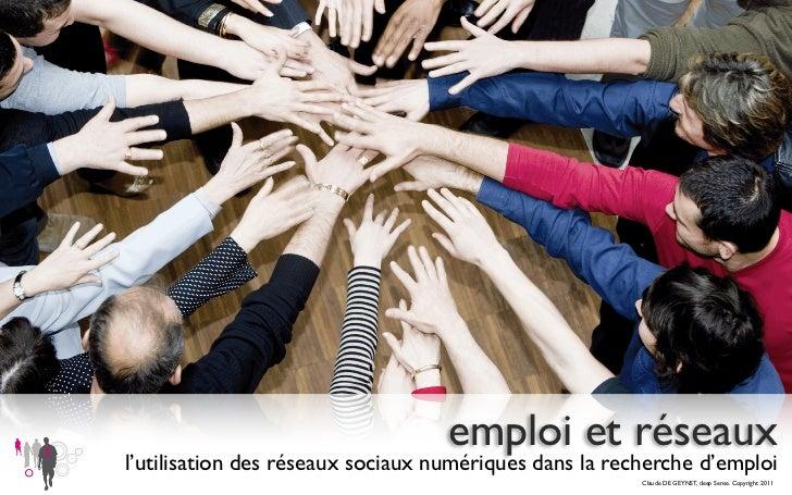 emploi et réseauxl'utilisation des réseaux sociaux numériques dans la recherche d'emploi                                  ...