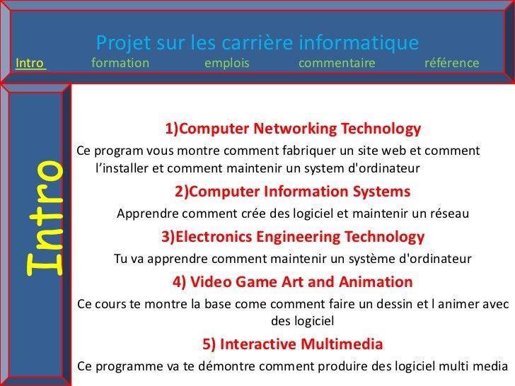 1)Computer Networking Technology<br />Ce program vous montre comment fabriquer un site web et comment l'installer et comme...
