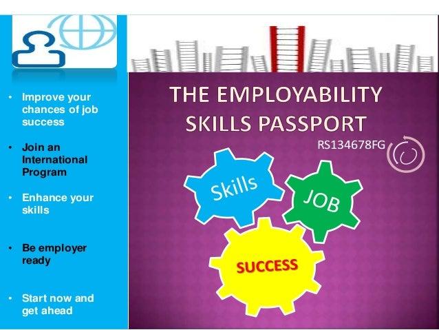 RS134678FG• Improve yourchances of jobsuccess• Join anInternationalProgram• Enhance yourskills• Be employerready• Start no...