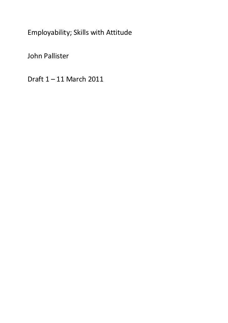 Employability revisited   draft 1
