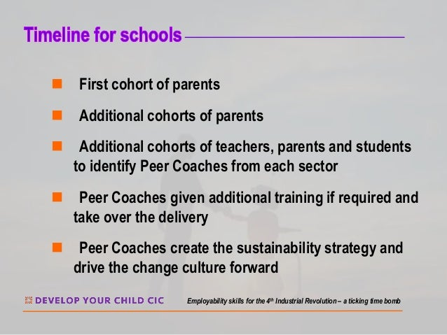n First cohort of parents n Additional cohorts of parents n Additional cohorts of teachers, parents and students to identi...