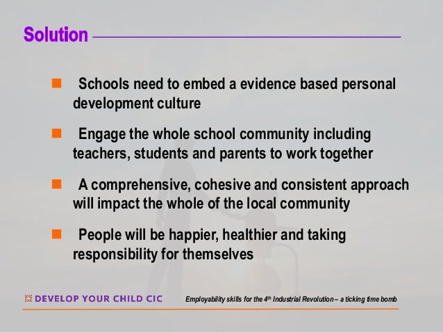 n Schools need to embed a evidence based personal development culture n Engage the whole school community including teache...