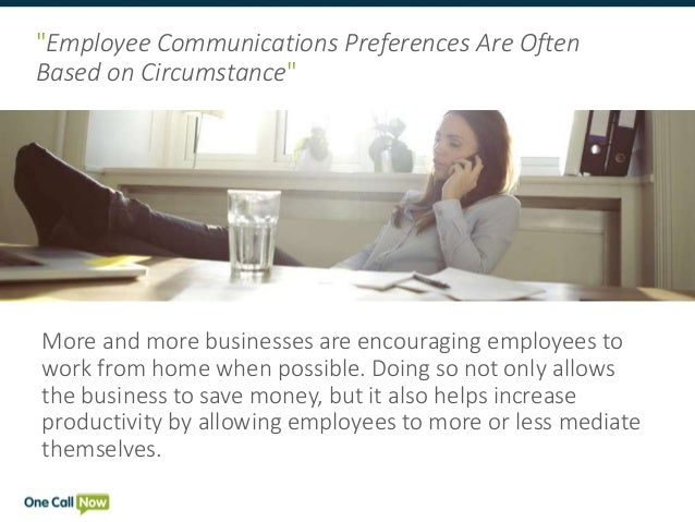 Employee preferences