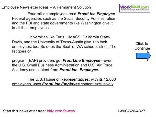employee newsletter articles
