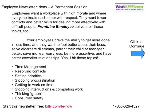 Employee Newsletter Ideas and Employee Newsletter Articles Solution f…