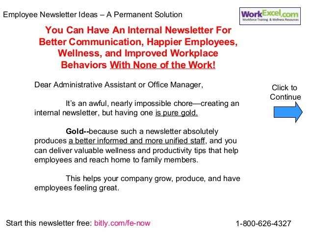 2 employee newsletter ideas