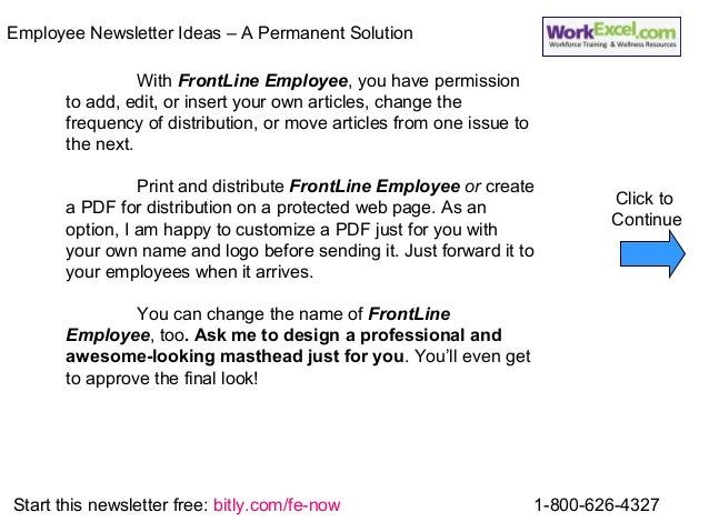 how to create a company newsletter for employees