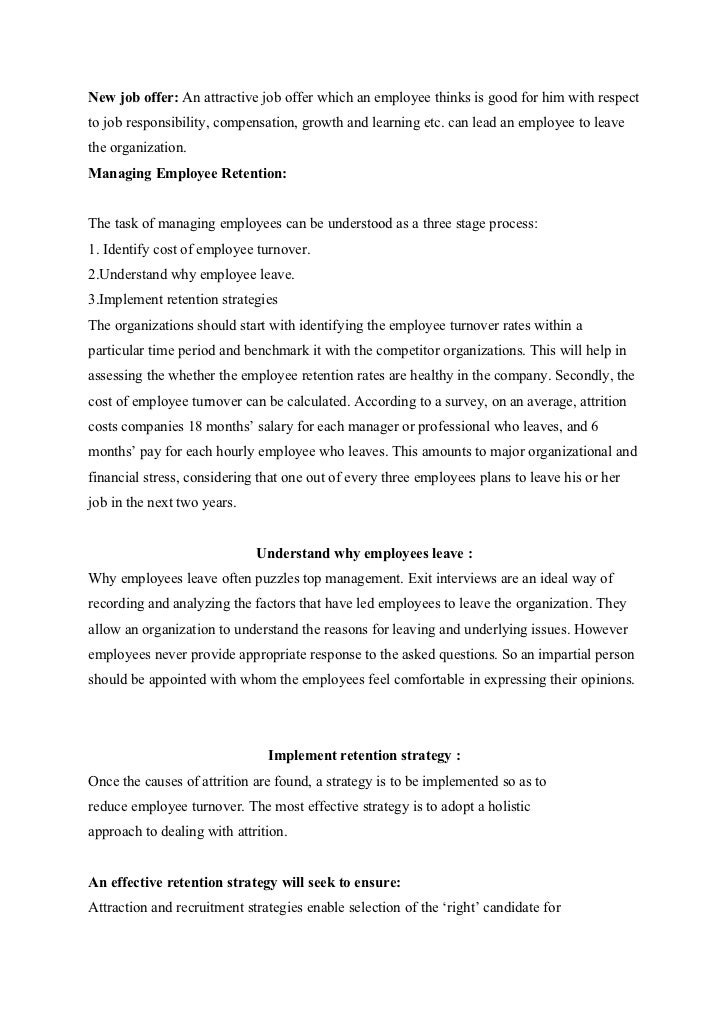 dissertation on employee retention