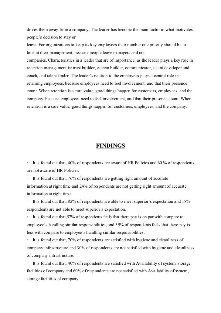 employee retention essay