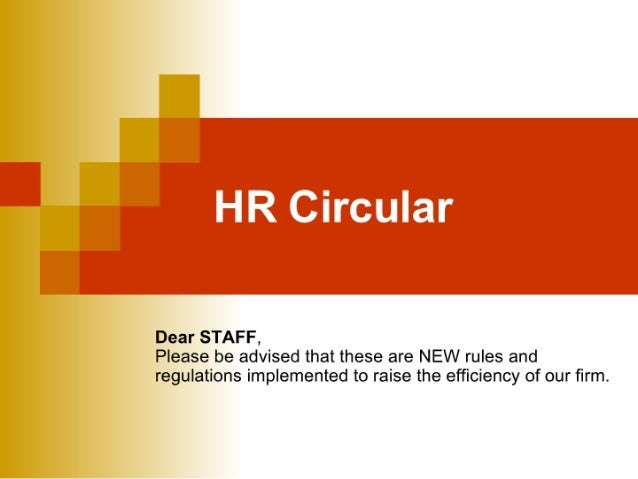 Employee Rules And Regulations