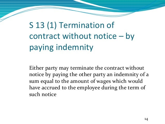 letter of termination without cause