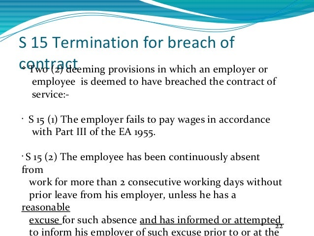 Breach Of Contract 21; 22.