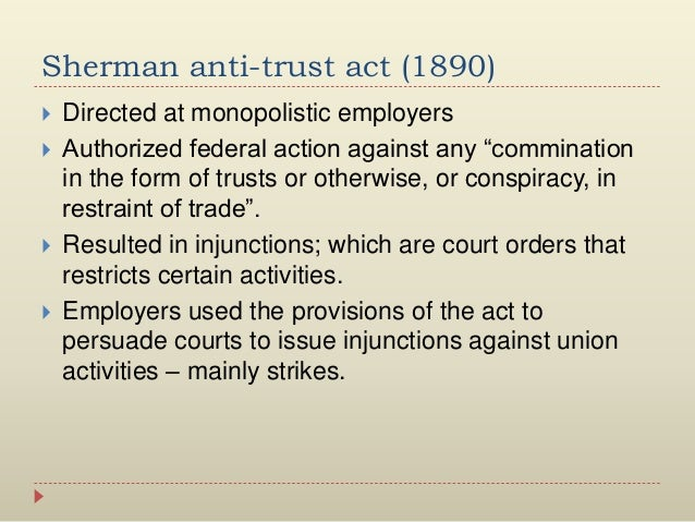 """companies that violated the sherman anti trust act Employee """"no poaching"""" agreements meet the antitrust laws: protection of employees in the new economy  and unlawful violations of the sherman antitrust act their thinking is as follows ."""